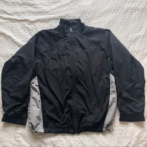 Nike windbreaker jacket black and grey men's